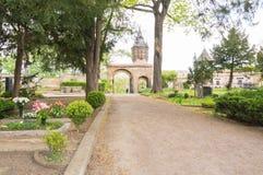Cimitero della città Fotografia Stock
