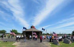 Cimitero della città di Sallisaw, Memorial Day, il 29 maggio 2017 Immagine Stock