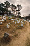 Cimitero della collina Fotografie Stock Libere da Diritti