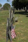 Cimitero della collina del bosco ceduo Immagini Stock