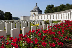 Cimitero della culla del Tyne in Ypres Fotografie Stock