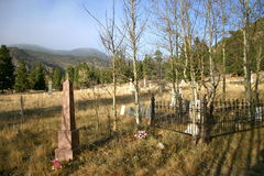Cimitero della montagna Immagini Stock Libere da Diritti