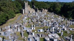 Cimitero della st Mullins e sito monastico contea Carlow l'irlanda fotografia stock