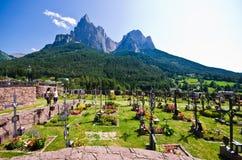 Cimitero di Alpe di Siusi Immagine Stock