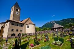 Cimitero di Alpe di Siusi Immagine Stock Libera da Diritti