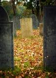 Cimitero di caduta Fotografia Stock Libera da Diritti