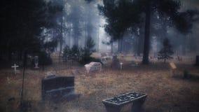 Cimitero di Colorado nella foschia 4K stock footage
