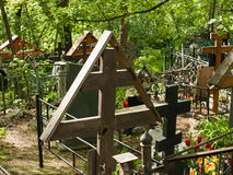 Cimitero di Danilovskoe Immagine Stock