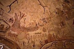 Cimitero di EL Bagawat, oasi di Kharga, Egitto Fotografia Stock Libera da Diritti
