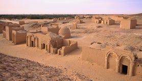 Cimitero di EL Bagawat, oasi di Kharga, Egitto Immagine Stock Libera da Diritti