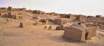 Cimitero di EL Bagawat, oasi di Kharga, Egitto Fotografie Stock