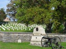 Cimitero di Gettysburg Fotografie Stock Libere da Diritti