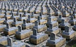 Cimitero di guerra fotografia stock