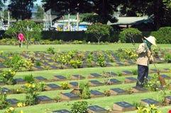 Cimitero di guerra di Jeath Fotografia Stock