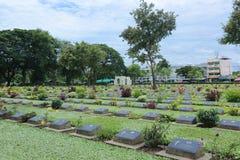 Cimitero di guerra di Kanchanaburi Fotografia Stock Libera da Diritti