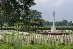 Cimitero di guerra di Madras Immagini Stock