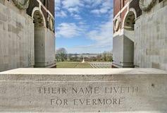 Cimitero di guerra di Thiepval Ridge immagine stock libera da diritti