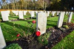 Cimitero di guerra di inseguimento di Cannock Fotografie Stock