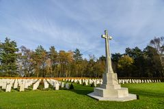 Cimitero di guerra di inseguimento di Cannock Fotografie Stock Libere da Diritti