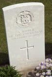 Cimitero di guerra - la Somme - Francia immagine stock