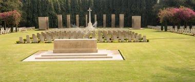 Cimitero di guerra mondiale, commemorativo ai soldati Fotografia Stock