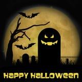 Cimitero di Halloween Immagini Stock Libere da Diritti