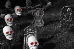 Cimitero di Halloween Fotografie Stock Libere da Diritti