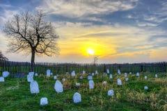 Cimitero di Hensley nel parco nazionale del Cumberland Gap Fotografie Stock