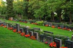 Cimitero di Kalevankangas da Tampere, Finlandia Fotografie Stock