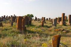 Cimitero di Khatchkar di Noraduz Fotografia Stock