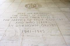 Cimitero di Manila e commemorativo americani, Manila, Filippine Fotografia Stock