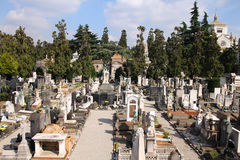Cimitero di Milano Fotografia Stock