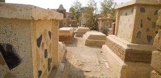 Cimitero di Najaf immagine stock