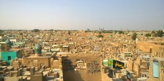 Cimitero di Najaf fotografia stock