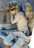 Cimitero di Recoleta della La - primo piano di un angelo Fotografia Stock Libera da Diritti