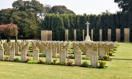 Cimitero di seconda guerra mondiale, commemorativo ai soldati Fotografia Stock