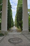 Cimitero di Udine Immagine Stock