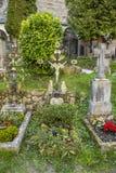 Cimitero e catacombe di Petersfriedhof al catholi della st Peters Abbey Immagine Stock Libera da Diritti
