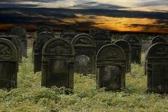 Cimitero ebreo Immagini Stock Libere da Diritti