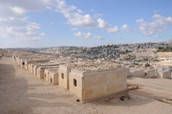Cimitero ebreo in Israele Immagine Stock