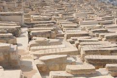 Cimitero ebreo in Israele Immagini Stock
