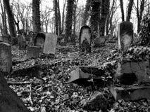 Cimitero ebreo in Polonia fotografia stock