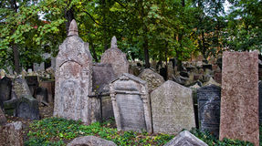 Cimitero ebreo a Praga Immagine Stock