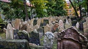 Cimitero ebreo a Praga Immagini Stock
