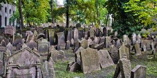 Cimitero ebreo a Praga Fotografia Stock