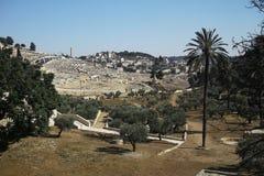 Cimitero ebreo sul monte degli Ulivi Fotografia Stock
