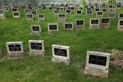 Cimitero ebreo in Terezin, repubblica Ceca Immagine Stock Libera da Diritti