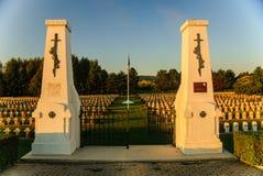 Cimitero francese di guerra in Piccardia, Francia Fotografia Stock