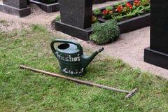 Cimitero in Germania fotografia stock