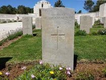 Cimitero Gerusalemme della prima guerra mondiale Fotografia Stock